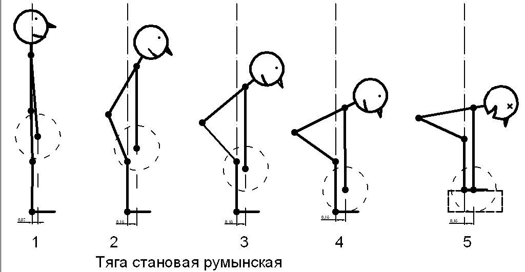 техника тяги на прямых ногах