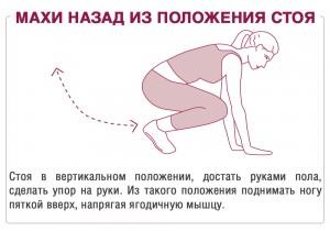 взмахи  упражнение для попы